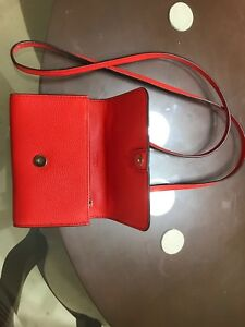 Coach New York- Vermillion (F50928)- Cross Body Wallet Phone Case