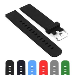 StrapsCo Silicone Rubber Quick Release Watch Band Strap