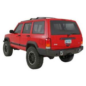 Smittybilt XRC Rear Bumpers w/ Hitch Black for Jeep Cherokee 1984-2001