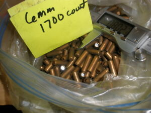 BULLET JACKETS (semi lead formed ) FOR SWAGING .243   COUNT 1700