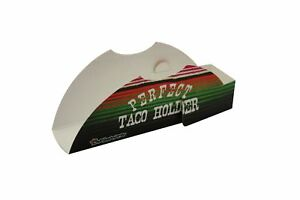 Perfect Taco Holders 10 Pack Paper Poncho