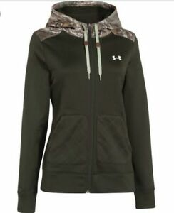 New Womens UNDER ARMOUR French Terry 1 2 Zip Hoodie S M L XL $65 $85 $42.99