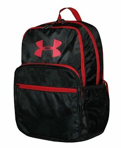 Under Armour HOF Youth Boys Athletic BACKPACK 1256655 NWT BLACK RED 15 X 11 X 3