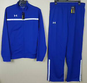 UNDER ARMOUR BASKETBALL WARM UP SUIT JACKET + PANTS ROYAL BLUE NEW (SIZE XL)