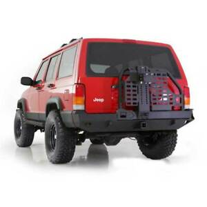 Smittybilt XRC Rear Bumpers w/Hitch & Tire Carrier Black for Jeep Cherokee 84-01
