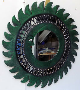 Mirror Sole Luna Green Antique Diameter CM 80 With Mosaic Of Glass Sole Moon GBP 88.61