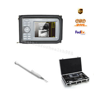 Mom Elder Check Kit Digital Handheld LCD Ultrasound Scanner + Transvaginal Probe