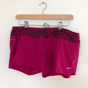 Nike Running Dri Fit Womans Large Pink Short New w Tags Training Run Nike Pro