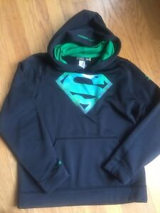 Under Armour Kids Boys Youth Large Superman Hoodie EEUC