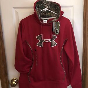 Under Armour STORM Caliber Women's Big Logo Hoodie Fury Camo size L
