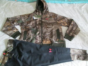 NEW Womens 2pc FIT UNDER ARMOUR COLDGEAR REALTREE XTRA HOODIE+Pants XL FREE SHIP