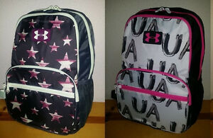 NEW Girls Under Armour Great Escape Backpack 23L White Black Pink