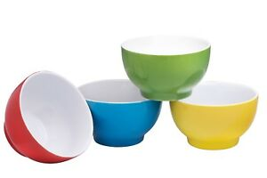 Bruntmor Ceramic Bowls Set of 4 Cereal Soup Salad Serving Bowls 20 Oz Multicolor