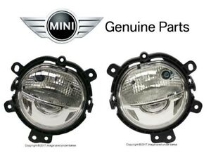 For Mini F54 F55 F56 Cooper Clubman Pair Set of 2 Front Fog Lights LED Genuine