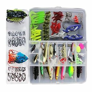 Fishing Lure 233Pcs 1 Set Freshwater Saltwater Trout Bass Salmon Spinner Baits