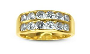 REDUCED 18k Yellow Gold 1.80ct HSI Diamond Wedding Bridal Dress Ring #492208