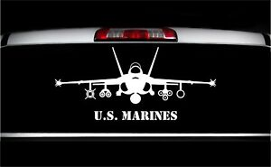 USMC F/A-18 Hornet Front View Military Vet Aircraft Graphics Decal Sticker Car