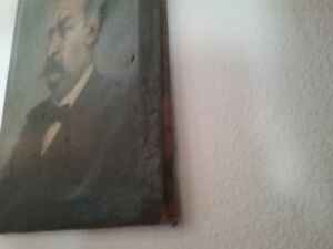 Antique painting portrait 19th century $380.00