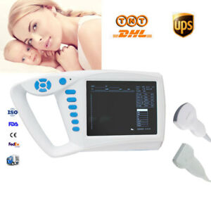"7""LCD Handheld Ultrasound Scanner Diagnostic Machine+Convex Linear Sensor Probe"