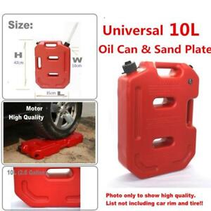 Portable 10L Plastic Jerry Can Diesel Oil Fuel Tank For Car Motorcycle Durable