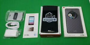 Inbox New LG G4 H810 32GB Metallic Gray Black Leather Door AT&T GSM Unlocked