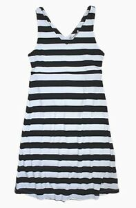 Banana Republic - M - NWOT - B&W Striped Santorini Style V-Neck Knit Dress