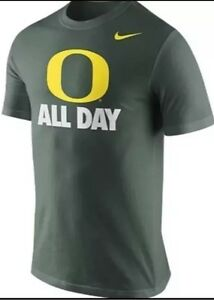 New Nike Oregon Ducks Dry Fit T-Shirt O All Day Green Youth Large