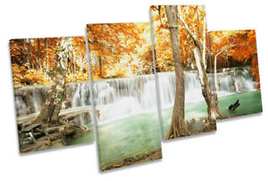 Waterfall Tropical Landscape Picture MULTI CANVAS WALL ART Print