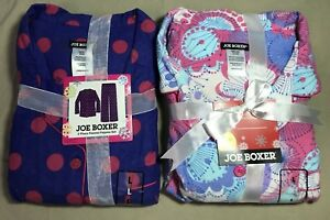2 Sets Joe Boxer 2-Piece Flannel Pajamas  Women's Size Large New