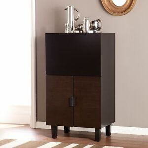 Southern Enterprises Redding Bar Cabinet in Espresso