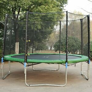 HOMCOM 14' Black Replacement Round Trampoline Net Enclosure (Net Enclosure ONLY)