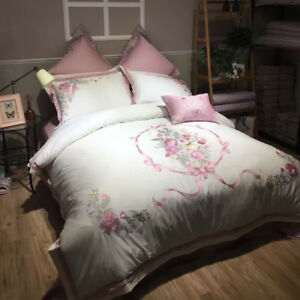 SUPER COZY Complete Comforter cover flat sheet pillowcases for princess wedding
