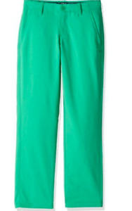 Under Armour Match Play Performance Golf Pants Stretch Jade Green $65 Boys Sz 12