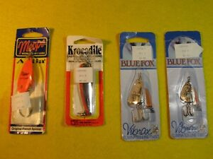 Vintage Blue Fox Luhr Jensen and Mepps Fishing Lures (Lot Of 4)