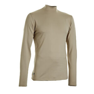 Under Armour Men's Coldgear Infrared Tactical Fitted Mock Beige Color Size XL