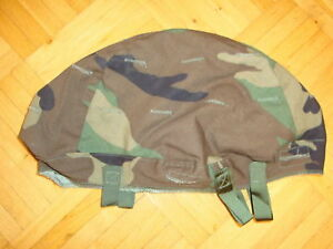 Original Pasgt US Helmet Cover Woodland Camouflage for Fritzhelm