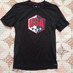 C9 Champion Duo Dry Men's Small Dry-Fit Shirt Black USA Vented