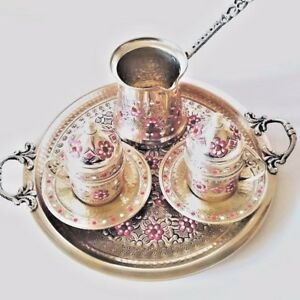 Turkish Coffee Serving Set-Coffee Porcelain Cup&SaucerCoffee Maker Pot