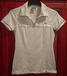 NIKE Fit Dry Women's White Pullover Collard Athletic Shirt Top size L