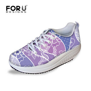Women's Shape Ups Swing Fitness Trainer Shoes Sneaker Platform High Shoes Multi