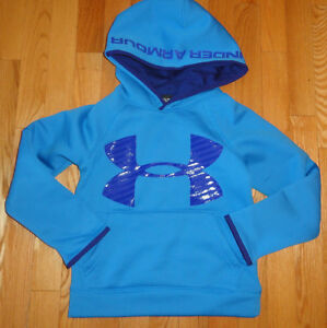Under Armour Boys Hoodie Sweatshirt STORM Pullover Blue Logo YXS 6 6X YSM 7 8