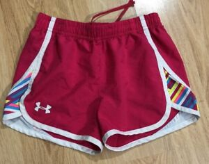 UNDER ARMOUR Shorts Youth Small YSM Pink $8.99