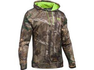 Under Armour Men's Scent Control Camo Hoodie 2XL Loose RealTree Xtra Green