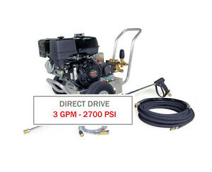 Hotsy 2700 PSI 3.0 GPM Gas Engine Direct Drive (Cold Water Pressure Washer)