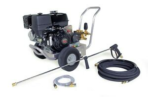 Hotsy Cold Water Pressure Washer 4000 PSI 4-GPM Gas Engine Electric Start Belt