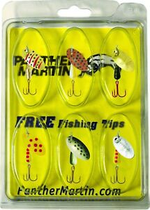 Panther Martin WT6 Western Trout Kit Assorted 6 Pack Fishing Lure