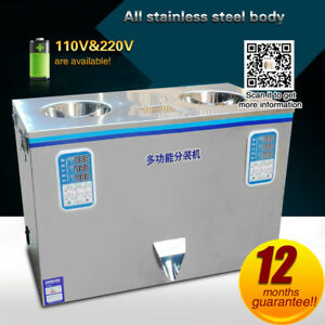 Automatic Double head dispenser food graindry powder tea packing machine