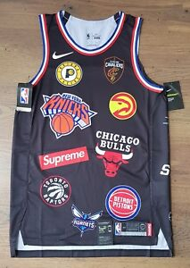 Supreme x Nike x NBA Teams Authentic Jersey Black Medium *IN HAND* *SOLD OUT*