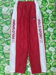 VINTAGE POLO SPORT RALPH LAUREN USA FLAG SPELL OUT TRACK PANTS P-WING BEAR SHIRT
