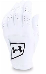 Under Armour Spieth Tour Glove Left Hand White Golf Glove (3 Pack)- Pick Size